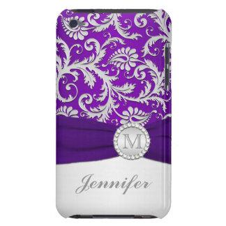 Púrpura, caso de plata del tacto de iPod del damas iPod Touch Case-Mate Cárcasas