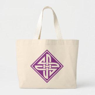 Púrpura céltica del nudo 2 bolsas de mano