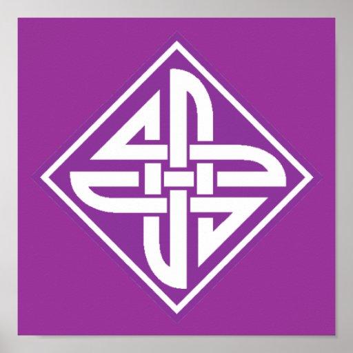 Púrpura céltica del nudo 2 póster