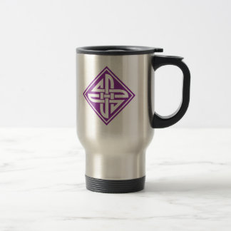 Púrpura céltica del nudo 2 tazas de café