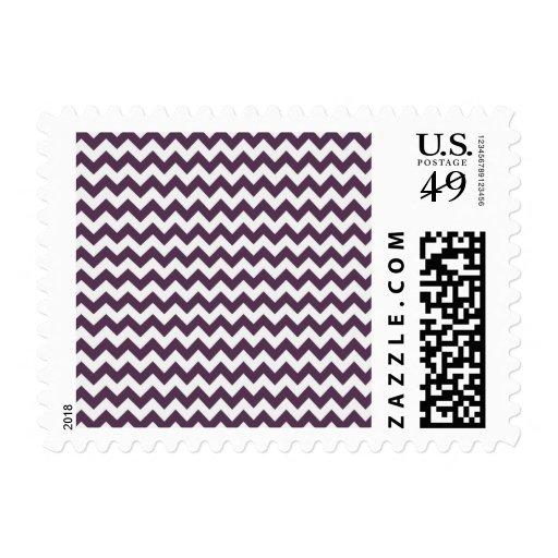 Púrpura Chevron de la berenjena; zigzag