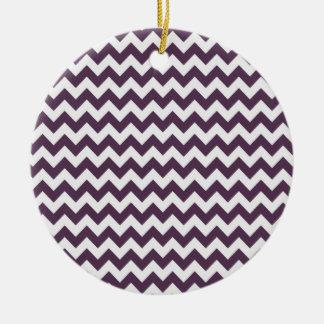 Púrpura Chevron de la berenjena; zigzag Ornamentos De Reyes Magos