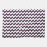 Púrpura Chevron de la berenjena; zigzag Toallas
