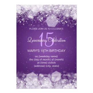Púrpura chispeante de la noche del fiesta de Quinc