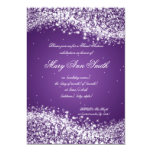 Púrpura chispeante de la onda de la fiesta de invitación 12,7 x 17,8 cm