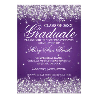 Púrpura chispeante del brillo de la fiesta de grad comunicados