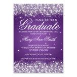 Púrpura chispeante del brillo de la fiesta de invitación 12,7 x 17,8 cm