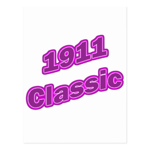 Púrpura clásica 1911 postales