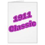 Púrpura clásica 1911 tarjeton