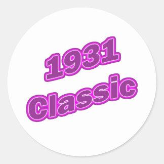Púrpura clásica 1931 etiqueta redonda