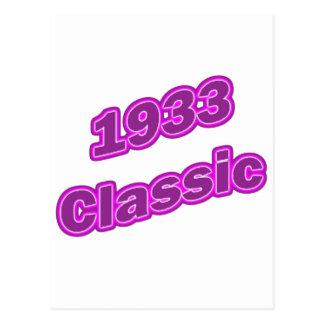 Púrpura clásica 1933 postal