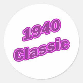 Púrpura clásica 1940 etiqueta redonda
