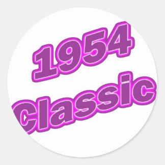 Púrpura clásica 1954 pegatinas redondas