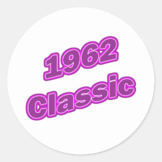 Púrpura clásica 1962 pegatinas redondas