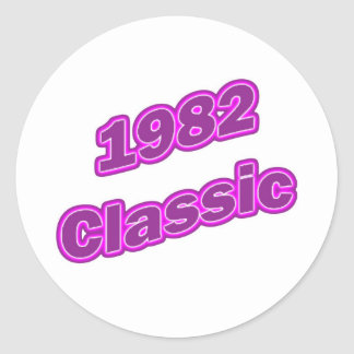 Púrpura clásica 1982 etiquetas redondas