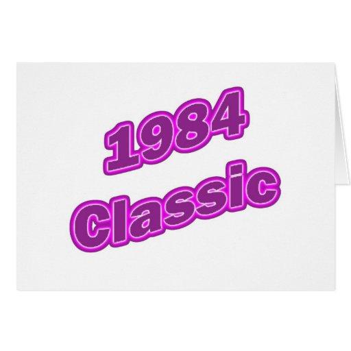 Púrpura clásica 1984 felicitaciones