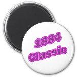 Púrpura clásica 1984 iman de frigorífico