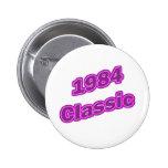 Púrpura clásica 1984 pin