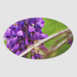Púrpura Colcomanias Oval Personalizadas