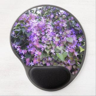 Púrpura/color de malva florece el gel Mousepad de Alfombrilla De Raton Con Gel