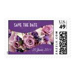 Púrpura color de rosa y de la lavanda adaptable sellos
