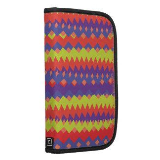 Púrpura colorida brillante del zigzag tribal moder planificador