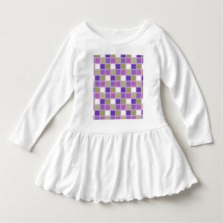 Púrpura colorida de la lavanda de la verde salvia vestido con volantes para niñas