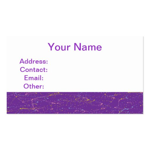 Púrpura colorida tarjetas de visita