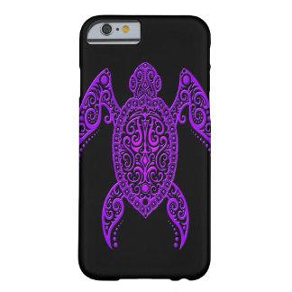 Púrpura compleja y tortuga del Mar Negro Funda De iPhone 6 Barely There