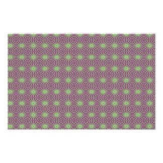 Púrpura con el papel Trippy verde del arte del mod Papeleria De Diseño