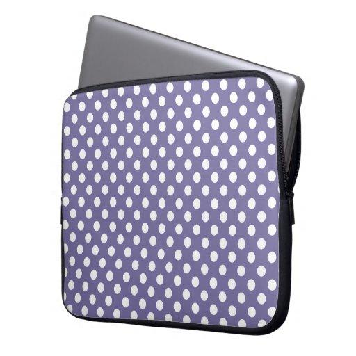 Púrpura con la manga blanca del ordenador portátil mangas computadora