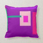 Púrpura contemporánea almohadas