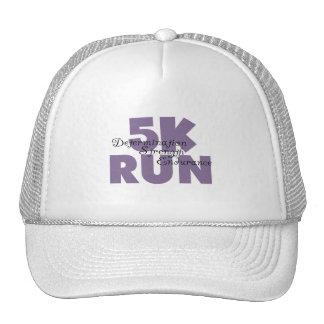 púrpura corrida 5K Gorro