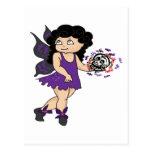 Púrpura-Cráneo-Faerie Tarjetas Postales