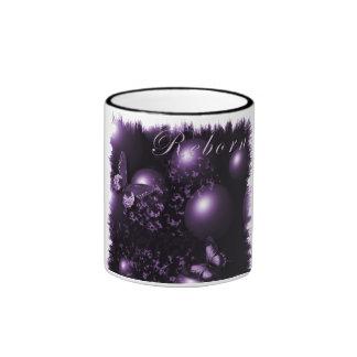 Púrpura cristiana del arte de las mariposas taza de dos colores