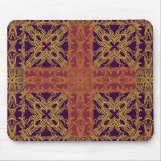 Púrpura cruzada cristiana del cojín de ratón tapete de ratón