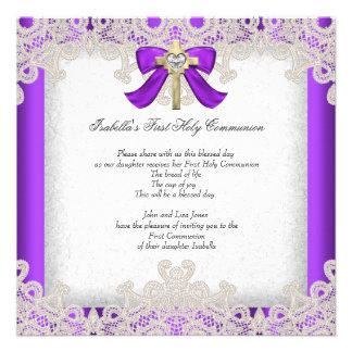 Púrpura cruzada de los primeros chicas de la comun comunicado personalizado