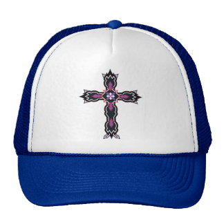 Púrpura cruzada del chapoteo del sharo gorros
