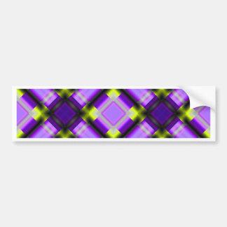 púrpura cuadrada del serie 1 del modelo pegatina para auto