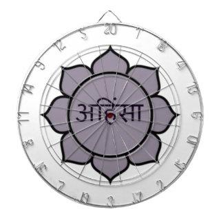Púrpura de Ahimsa Lotus Tablero De Dardos