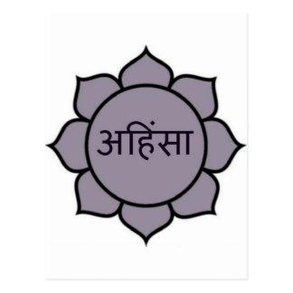 Púrpura de Ahimsa Lotus Tarjetas Postales