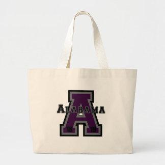"""Púrpura de Alabama """"A"""" Bolsa Tela Grande"""
