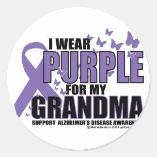 Púrpura de Alzheimers para la ABUELA Pegatinas