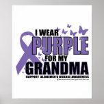Púrpura de Alzheimers para la ABUELA Posters