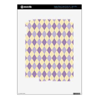 Púrpura de Argyle, Lavendar, modelo poner crema Pegatina Skin Para iPad 3