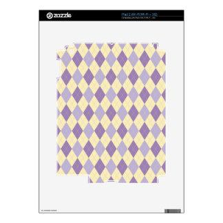 Púrpura de Argyle, Lavendar, modelo poner crema Skins Para iPad 2