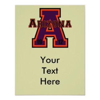 """Púrpura de Arizona """"A"""" Invitación 4.25"""" X 5.5"""""""