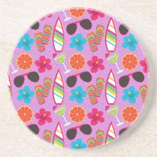 Púrpura de Beachball de las gafas de sol de los fl Posavasos Manualidades