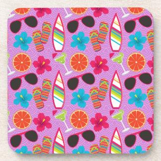 Púrpura de Beachball de las gafas de sol de los fl Posavasos
