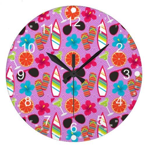 Púrpura de Beachball de las gafas de sol de los fl Relojes